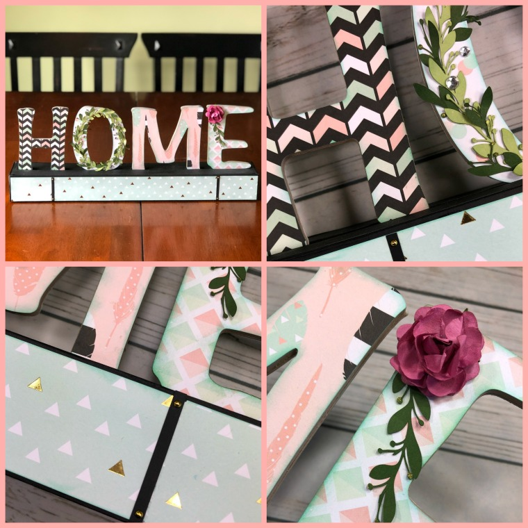HOME Word Sign Collage